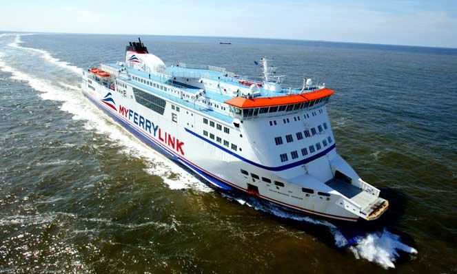 Carte de la Route de MyFerryLink